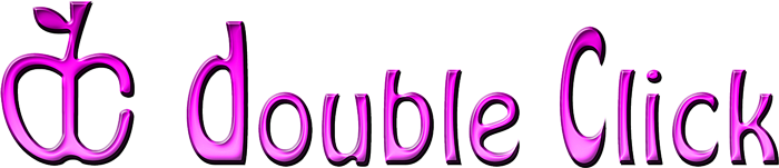 Grape-colored Double Click logo.png