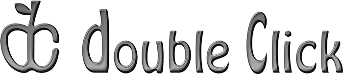 Gray-scale Double Click logo.png