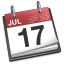 small icon of iCal (calendar) app